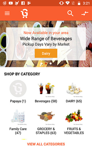 Android grocery app development