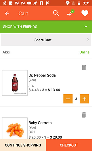 Launch grocery android app