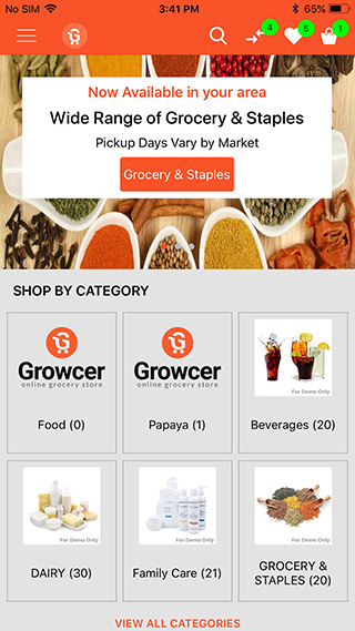 launch IOS grocery app with Growcer