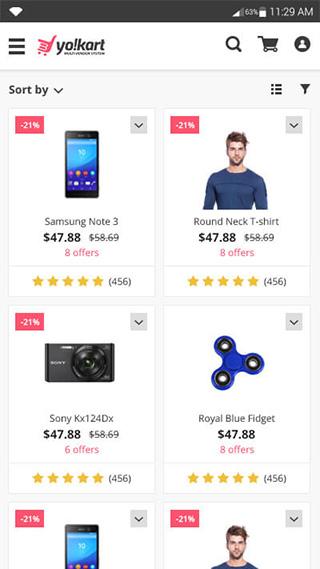 Yo!Kart android buyer app