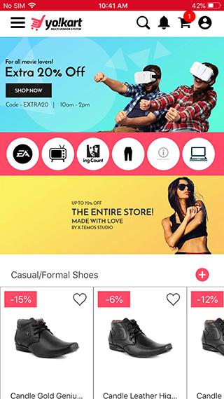 Yo!Kart IOS buyer app