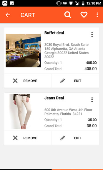 launch android online deal marketplace app