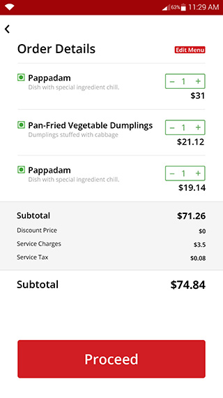 android food ordering app for buyers