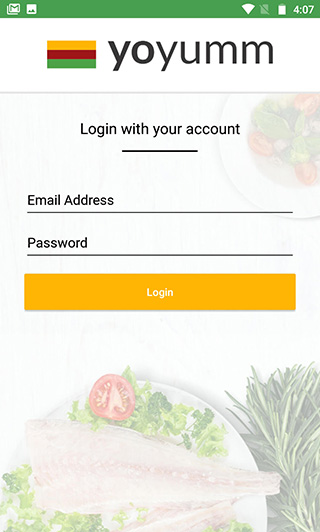 YoYumm android merchant App login/signup