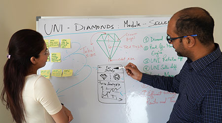 UNI diamonds ideation process
