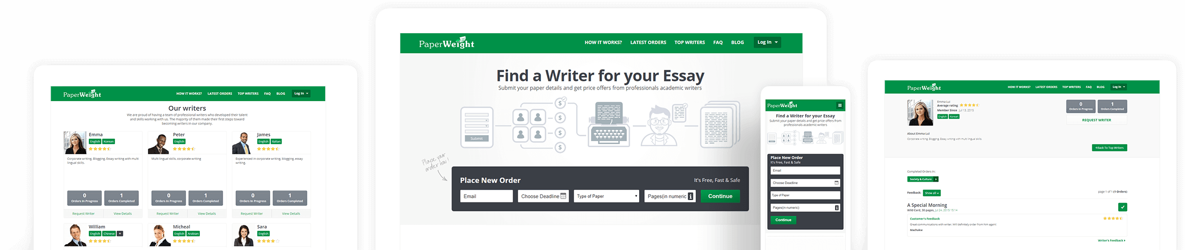 Paperweight Essay Writing Website Builder