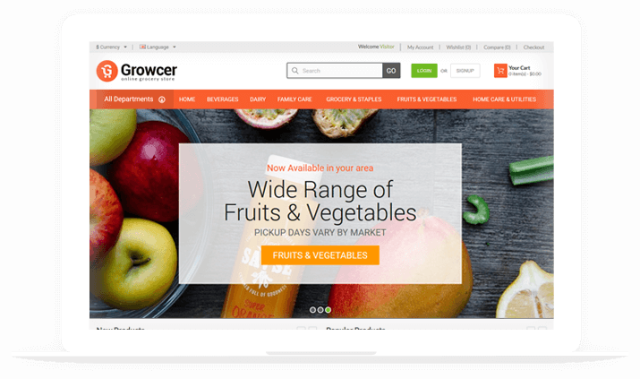 Grocer Screen Front End