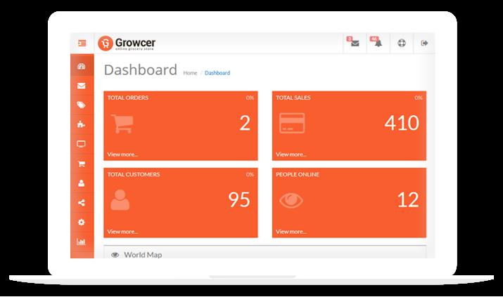 Grocer Screen Admin Area
