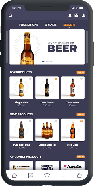 B2B liquor selling platform mobile app