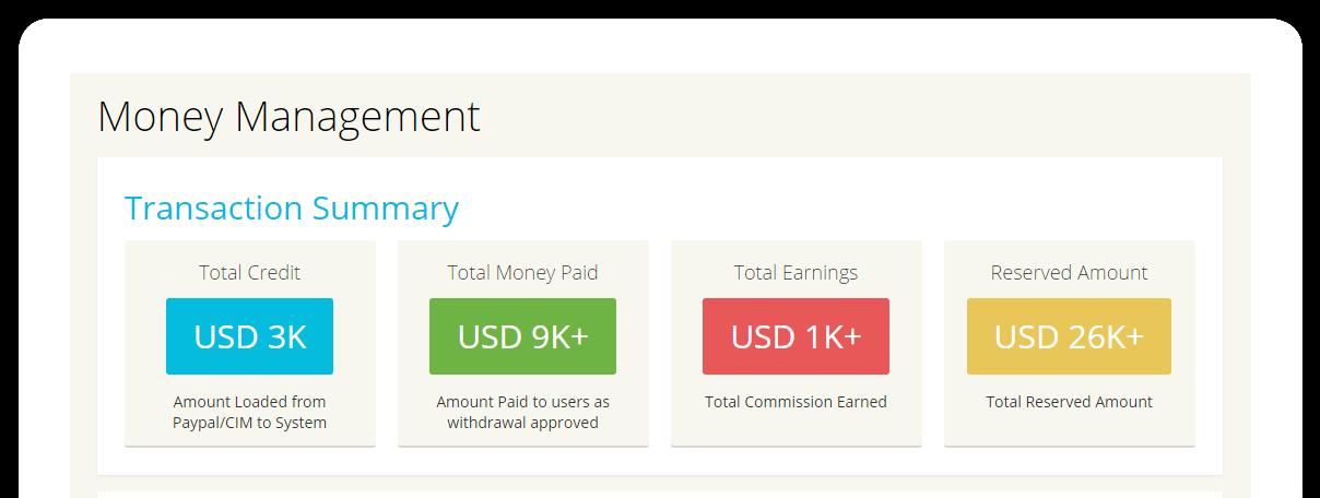 Finance management feature