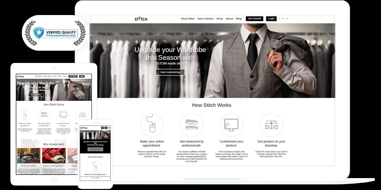 online custom tailoring platform