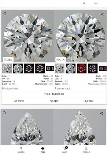 UNI diamonds app design iOS tab 3