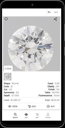 UNI Diamonds Mobile App Screen 3