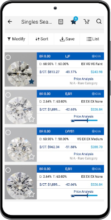UNI Diamonds Mobile App Screen 1