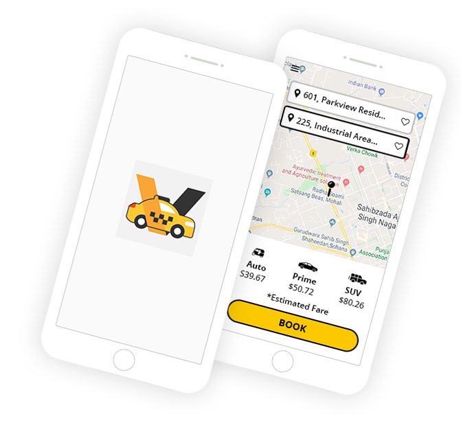 cab booking mobile app solution
