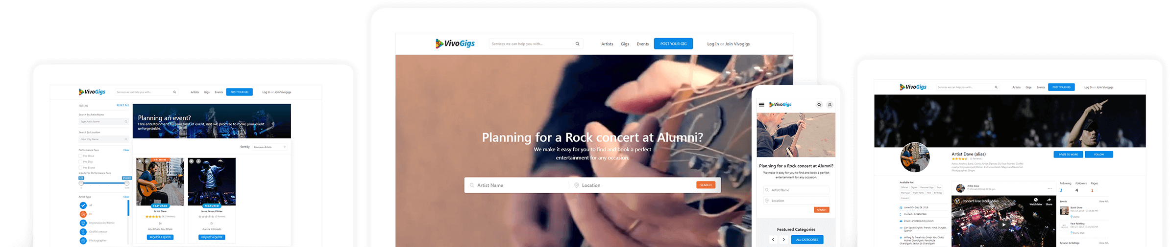 Gigs booking solution
