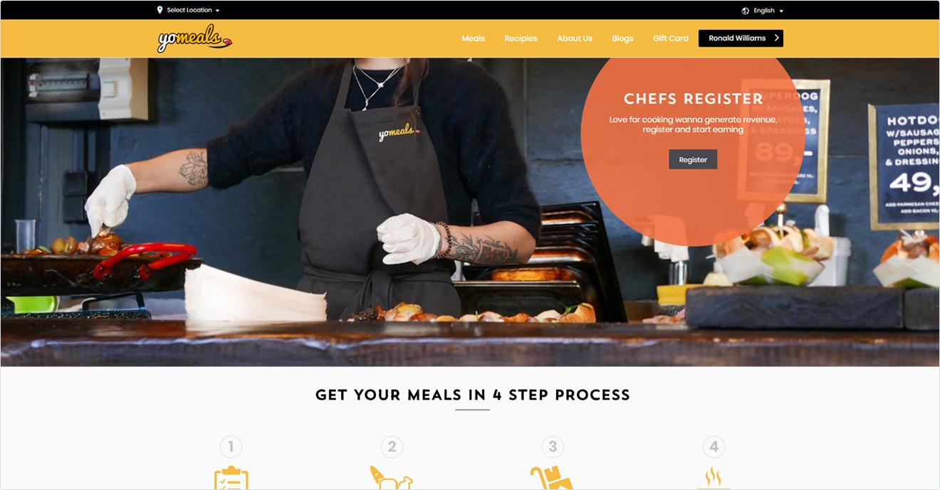 Meals delivery websites