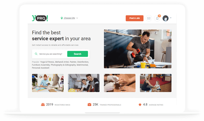 Online professional search marketplace